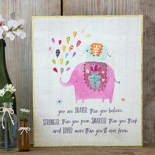 Always Remember You Are Loved Elephant Bungalow Art