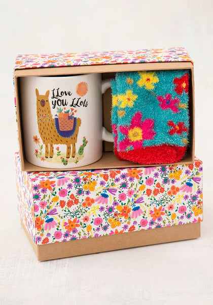 Llama Llove You Mug & Cozy Sock Gift Set