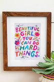 Beautiful Girl Greeting Card Art Print - Natural Life