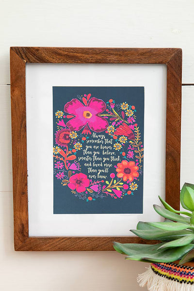 Always Remember Greeting Card Art Print - Natural Life