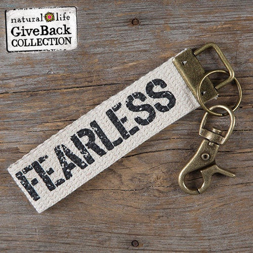 Fearless Canvas Key Fob