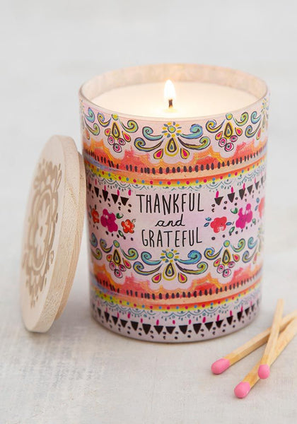 Thankful & Grateful Soy Candle - Natural Life