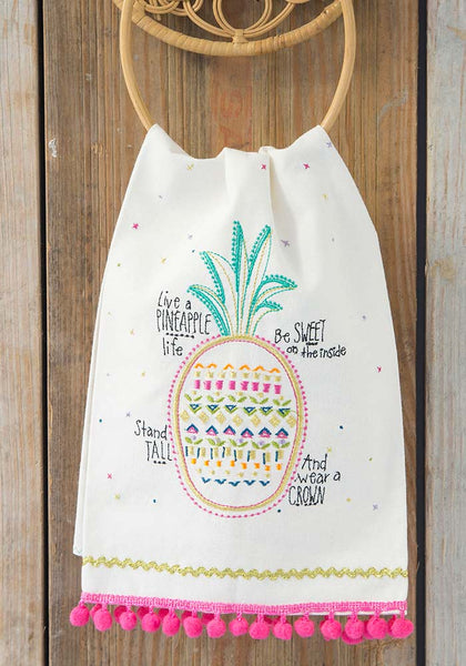 Live a Pineapple Life Hand Towel