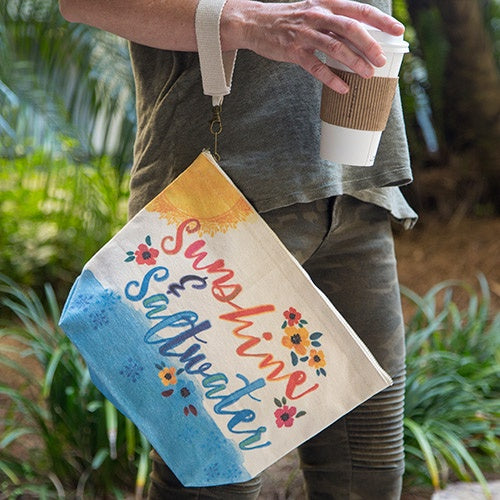 Sunshine & Saltwater Canvas Carryall