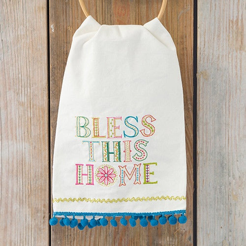Bless This Home Hand Towel - Natural Life