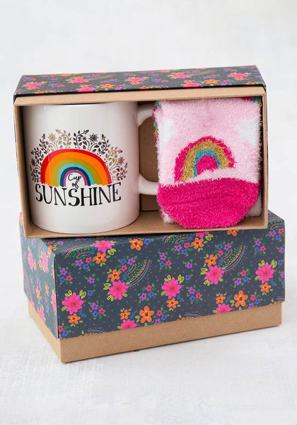 Rainbow Mug & Cozy Sock Gift Set