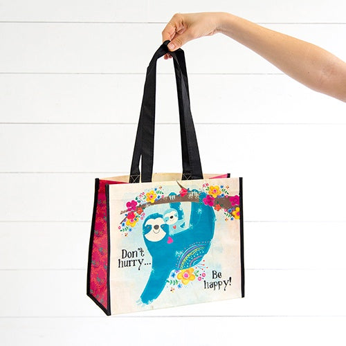 Don't Hurry Be Happy Large Gift Bag