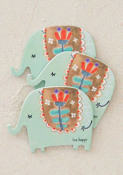 Live Happy Elephant Emery Boards