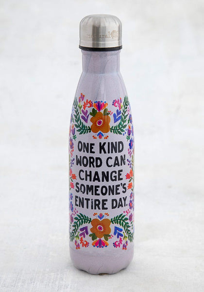 One Kind Word Water Bottle - Natural Life