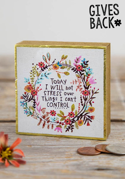 Will Not Stress Tiny Block Keepsake - Natural Life