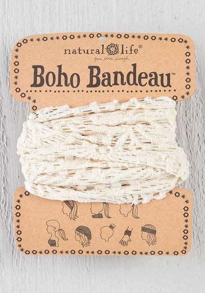 Natural Life Cream Crochet Boho Bandeau