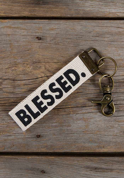 Blessed Canvas Key Fob - Natural Life