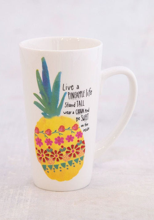 Pineapple Life Latte Mug - Natural Life