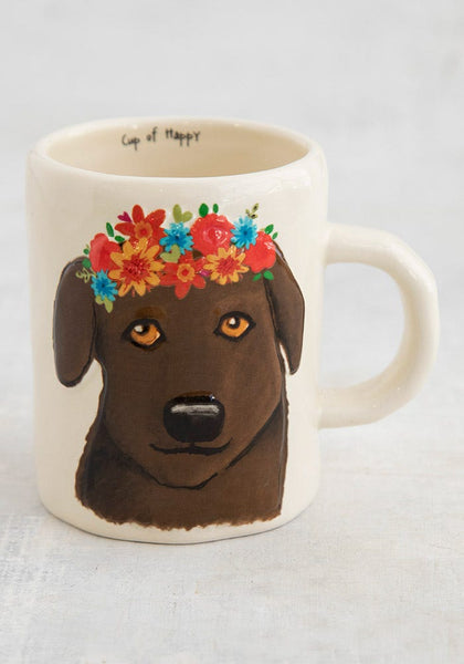 Chocolate Lab Embossed Mug - Natural Life
