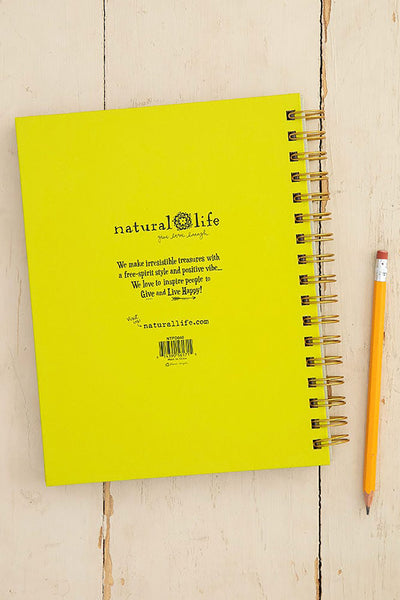 Be Happy Spiral Notebook - Natural Life