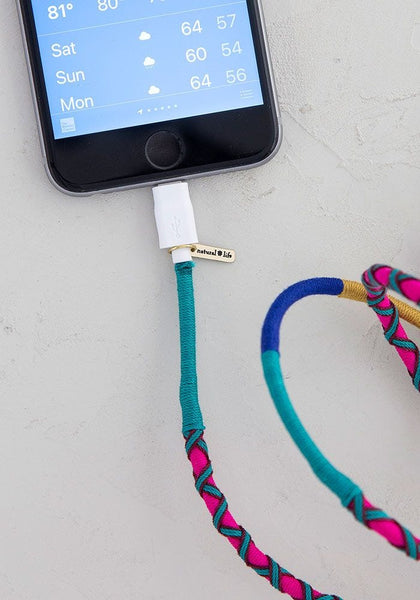Purple Teal Charging Cord