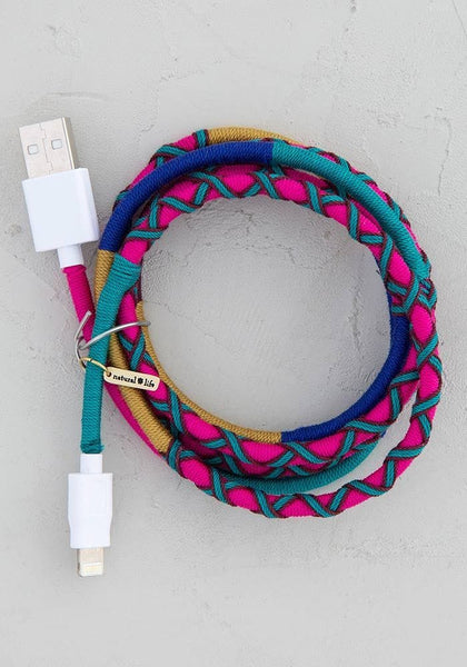 Purple Teal iPhone Charging Cord - Natural Life