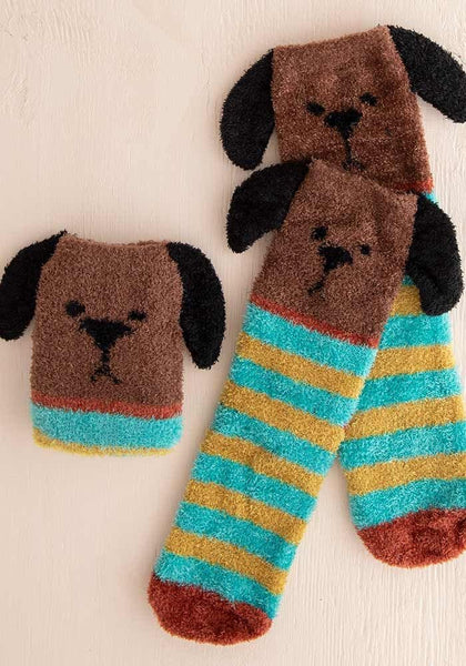 Brown Dog Cozy Sock - Natural Life