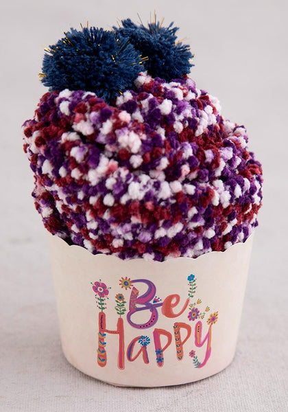 Be Happy Cupcake Socks - Natural Life