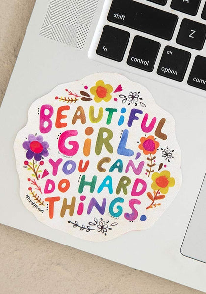 Beautiful Girl Vinyl Sticker - Natural Life