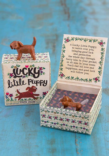 Natural Life Lucky Little Puppy Token Charm