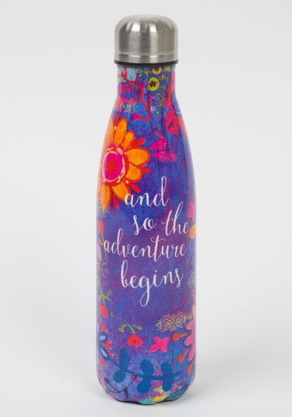 Adventure Begins Water Bottle - Natural Life
