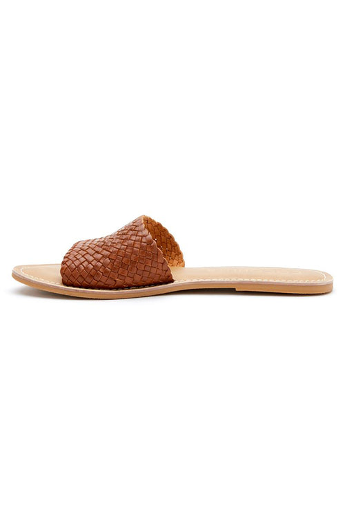Matisse: Zuma Leather Slide Sandal - Saddle