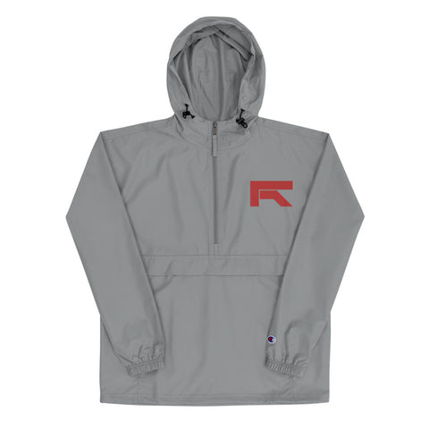 RED R Embroidered Champion Packable Jacket
