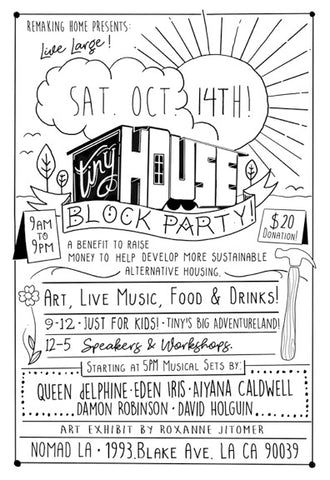 TINY HOUSE Block Party & Sustainable Materials WORKSHOP: Punk Shui-The Art of Processing Pallet Wood Materials