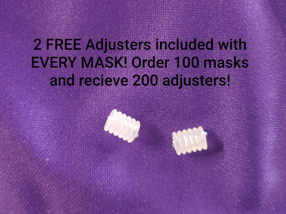ADJUSTERS INCLUDED FOR EVERY MASK!