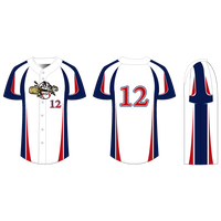 Home Run Full Button Baseball/Softball Jersey