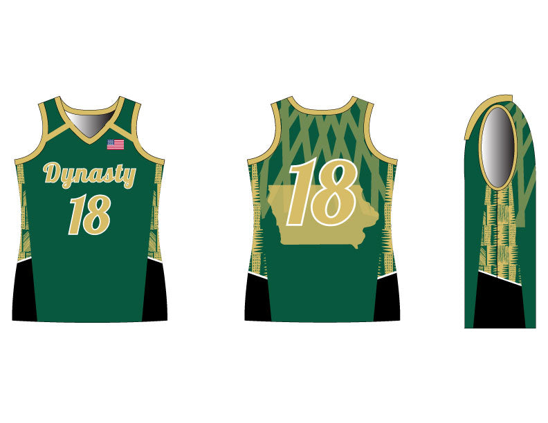 INDIVIDUAL Slam Dunk Fitted Basketball Jersey