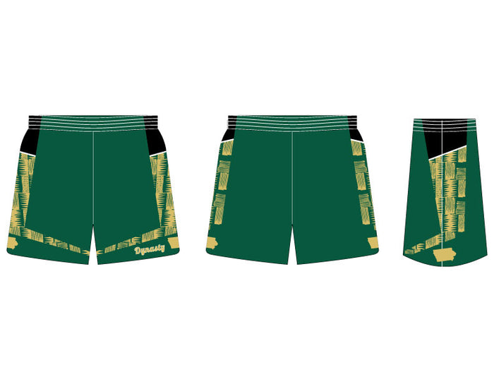 INDIVIDUAL Post-Up Fitted Basketball Shorts