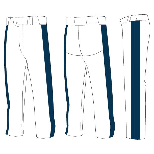 Power Hitter Open-Bottom Baseball/Softball Pants (Partial Custom)