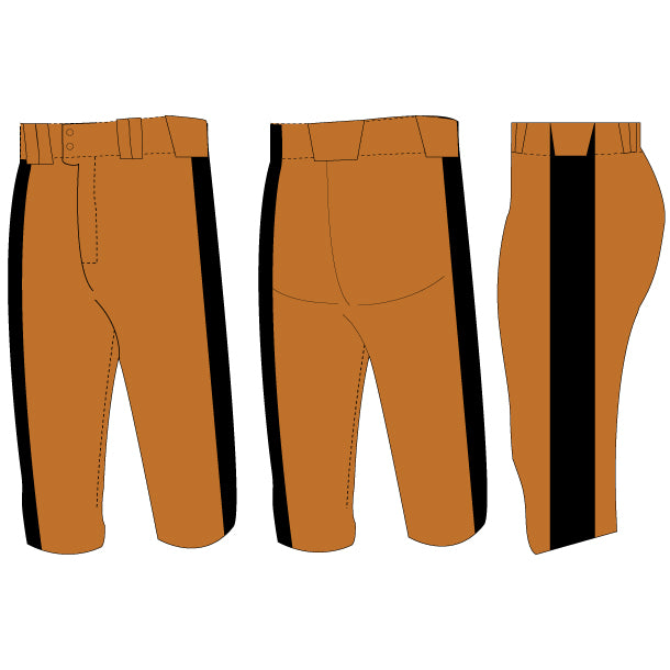 Home Plate Lowrise Softball Pants (Partial Custom)