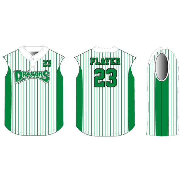 Pennant 2-Button Sleeveless Baseball/Softball Jersey