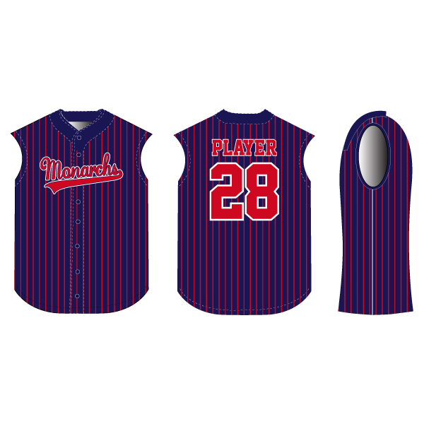 Extra Bases Full Button Sleeveless Baseball/Softball Jersey