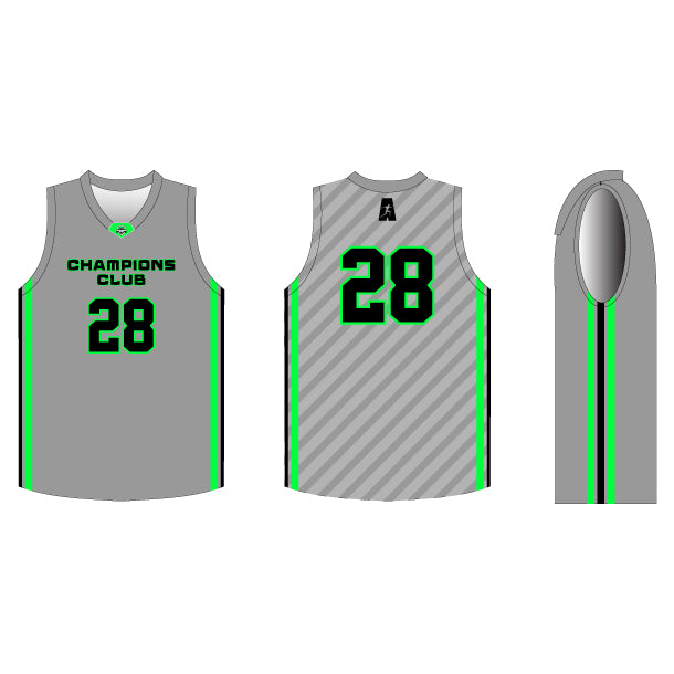 INDIVIDUAL Game Winner Basketball Jersey w/ Neck Emblem