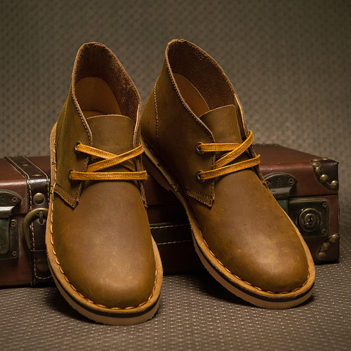 Classic leather tooling boots