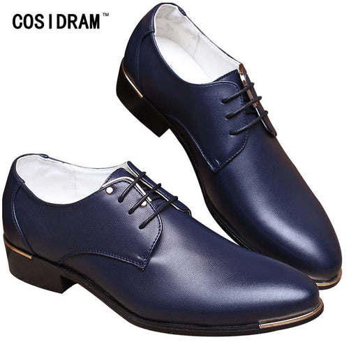 Leather Men Oxfords Lace-Up Shoes