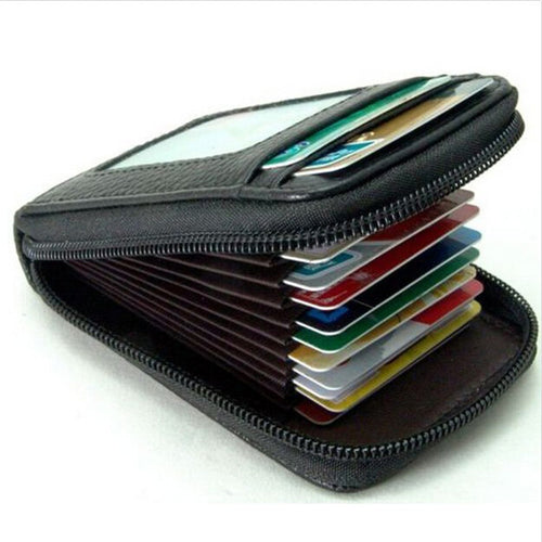 Mini Leather Wallet ID Credit Card Holder