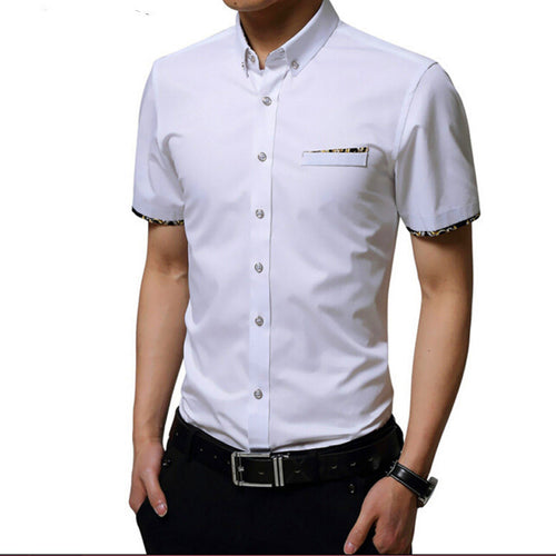 Business Casual  Formal White Shirt Slim