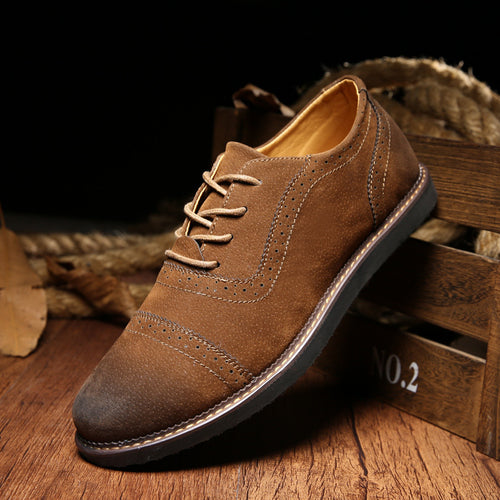 Classic Men Dress shoes Suede Men Oxfords Casual Derby Shoes