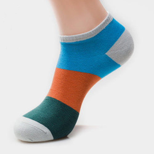 Mens Patchwork Ankle Sock