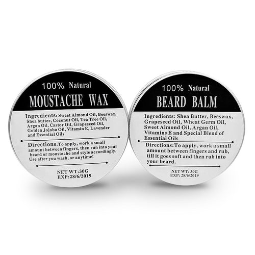 100% Natural Mustache and Beard Wax and Oil