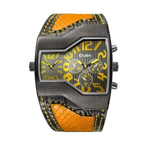 Oulm Double Time Masculine Watch