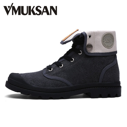 Men's Boots Canvas Shoes High Top