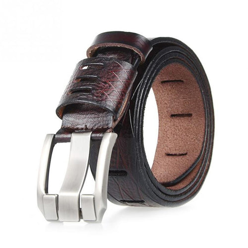 Large Pin Leather Belt