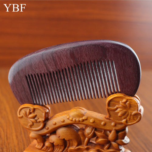 Wooden Brush Carbon Barber Professional Hairdresser Beard Comb
