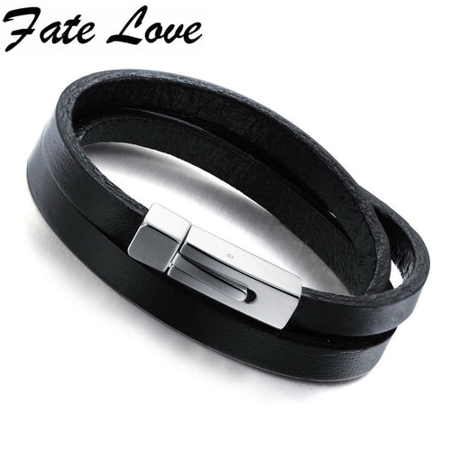 Genuine Leather Men Bracelet & Bangle